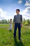 Verticale de l'amour en nature Photographie stock libre de droits