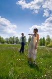 Verticale de l'amour en nature Image libre de droits