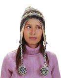 Verticale de l'hiver d'un femme images libres de droits