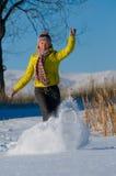 Verticale de l'hiver de la fille Photos stock