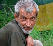 Verticale de l'homme avec la barbe 11 Images libres de droits