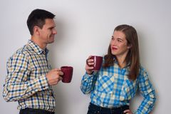 Verticale de l'homme et de femme Photo stock