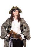 Verticale de l'homme rectifiée comme pirate photo stock