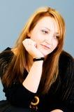 Verticale de la belle femme Photographie stock