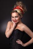 Verticale de la belle femme dans un turban Image stock