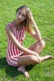 Verticale de la belle fille Photo stock