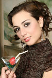 Verticale de la belle jeune femme Photos libres de droits