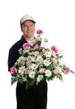 Verticale de la distribution de fleur Photos stock