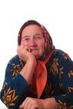 Verticale de la femme âgée Photo libre de droits