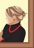 Verticale de la femme illustration libre de droits