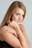 Verticale de la femme de sourire #1 Photo libre de droits