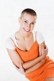 Verticale de la fille joyeuse Image stock