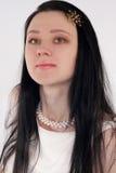 Verticale de la jeune femme Photographie stock libre de droits