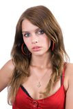 Verticale de la jeune femme de beauté Image stock