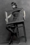 Verticale de la jeune fille Image libre de droits
