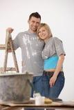 Verticale de la jeune peinture de couples Photos libres de droits