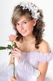 Verticale de la mariée Image libre de droits