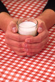 Verticale de lait et de glasse Images stock