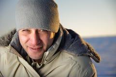 Verticale de mâle de l'hiver. Photo libre de droits