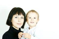 Verticale de mère et d'enfant Photos libres de droits