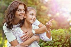 Verticale de mère et de descendant Images libres de droits