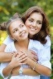 Verticale de mère et de descendant Image libre de droits