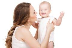 Verticale de mère heureuse avec la chéri Photo libre de droits