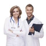 Verticale de médecins de sourire Photo libre de droits