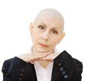 Verticale de malade du cancer Photo libre de droits