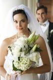 Verticale de mariée et de marié. Photos stock