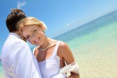 Verticale de mariée et de marié Photos stock