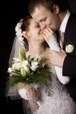 Verticale de mariée et de marié Photo libre de droits