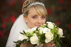 Verticale de mariage parfaite absolue Photographie stock libre de droits