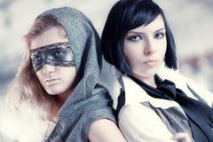 Verticale de modèles de mode Photo libre de droits