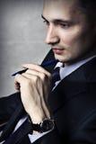 Verticale de mode d'homme d'affaires de réussite Photos stock