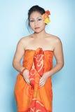 Verticale de mode d'un femme asiatique images libres de droits