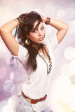 Verticale de mode de chéri hispanique sexy Images stock