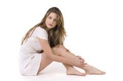 Verticale de mode de jeune femme élégant Image stock