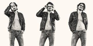 Verticale de mode de jeune homme beau photos libres de droits