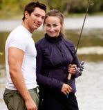 Verticale de pêche photo libre de droits