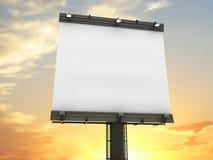 Verticale de panneau-réclame avec le chemin de découpage Photo libre de droits