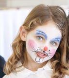 Verticale de peinture de visage Image libre de droits