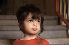 Verticale de petit garçon Photographie stock