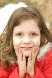 Verticale de petite fille Photos stock