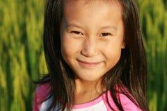 Verticale de petite fille chinoise Photos libres de droits