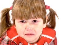 Verticale de petite fille pleurante Photos libres de droits