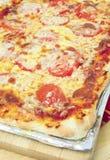 Verticale de pizza sicilienne Images libres de droits