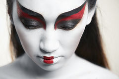 Verticale de plan rapproché d'un beau femme asiatique Photo libre de droits