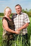 Verticale de plan rapproché d'un couple plus âgé de sourire Photographie stock libre de droits