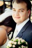 Verticale de plan rapproché d'un marié Photo libre de droits